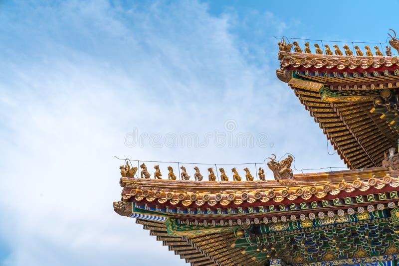 El tejado del palacio fotos de archivo