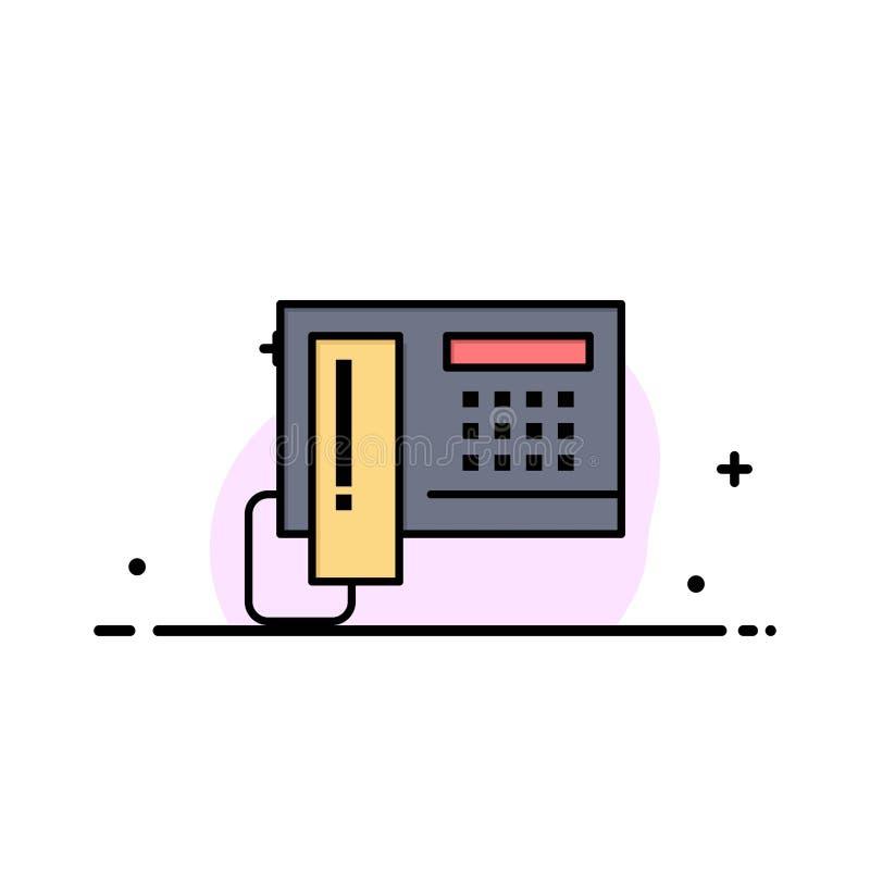 El teléfono, teléfono, célula, línea plana del negocio del hardware llenó la plantilla de la bandera del vector del icono stock de ilustración