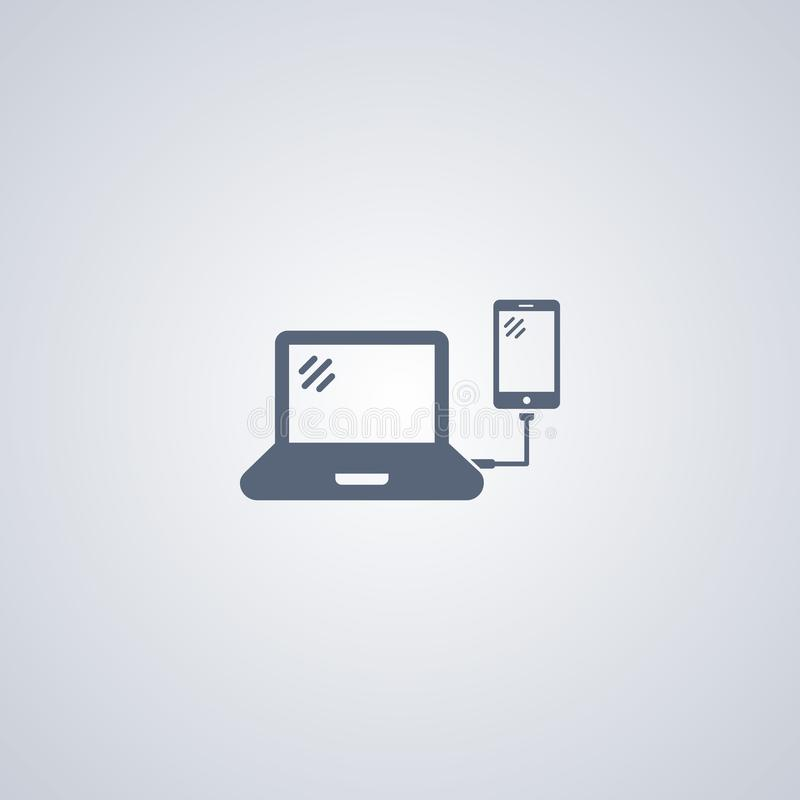 El teléfono de la conexión segura, vector el mejor icono plano libre illustration
