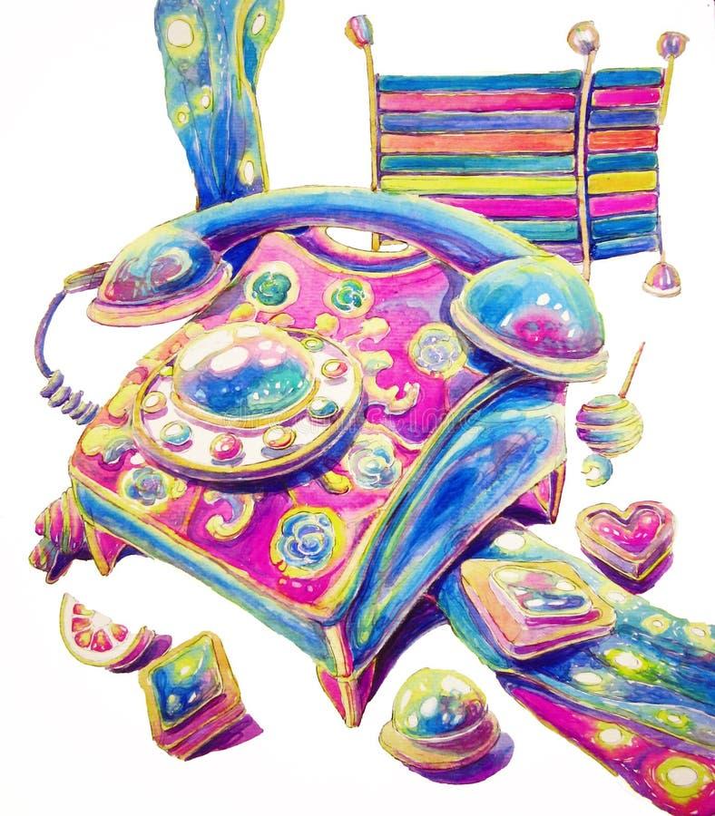 El teléfono del caramelo ilustración del vector