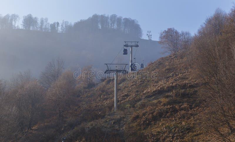 El teleférico a la montaña Tufandag Gabala azerbaijan fotos de archivo libres de regalías