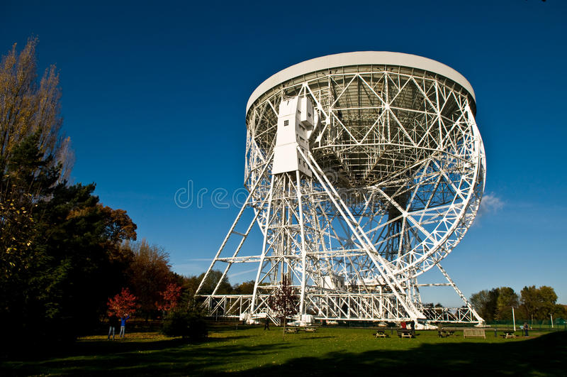 El telescopio de Lovell fotografía de archivo