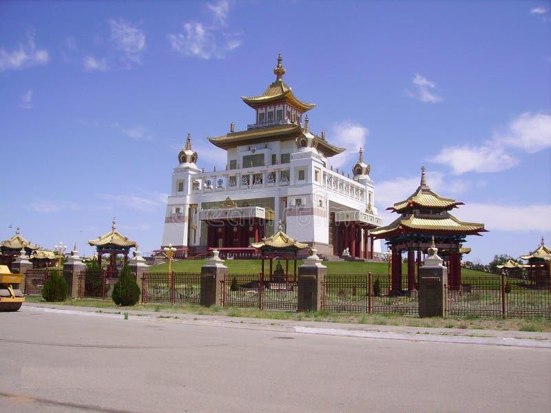 El templo budista más grande de Europa, Elista, la República de Kalmukia, Rusia meridional fotos de archivo libres de regalías