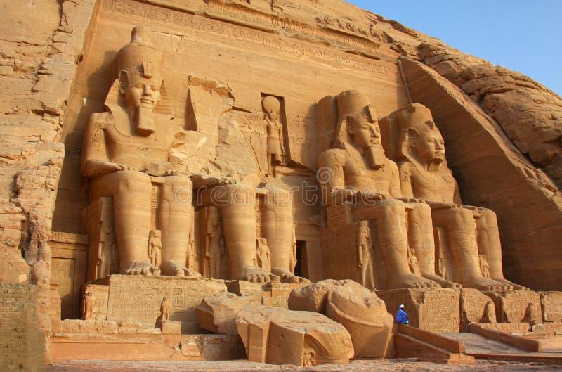 El templo de Abu Simbel en Egipto fotos de archivo libres de regalías