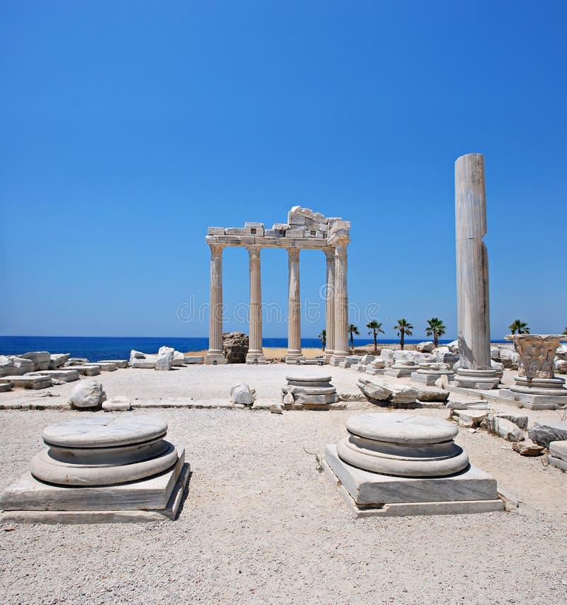 El templo de Apolo, cara, Turquía foto de archivo