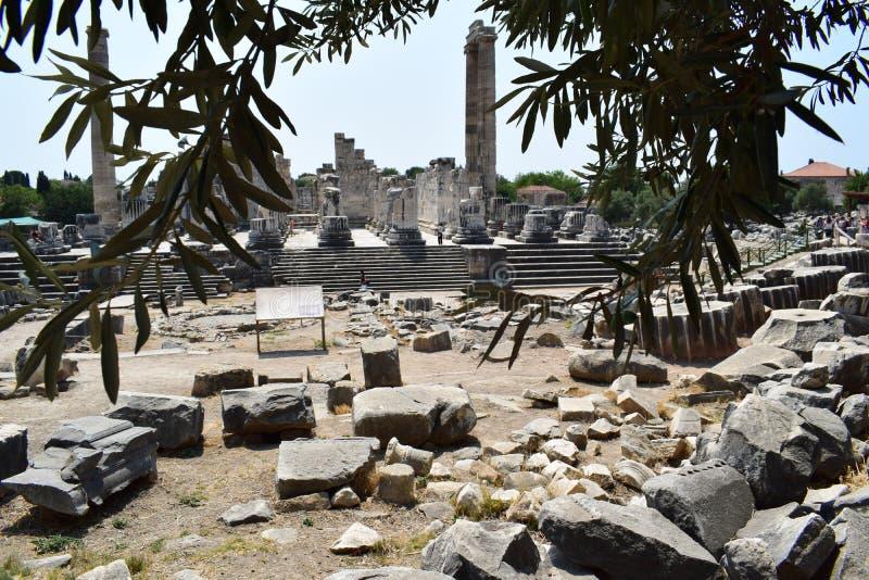 El templo de Apolo en Didim fotos de archivo libres de regalías
