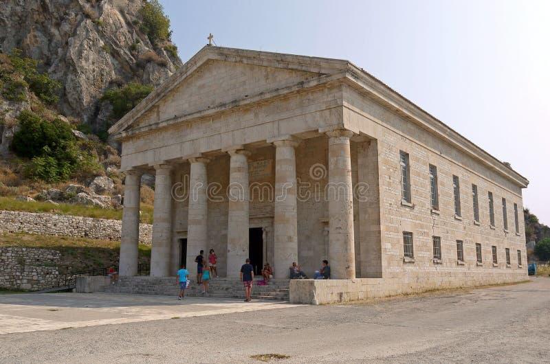 El Templo de Artemisa, Corfú Grecia fotos de archivo