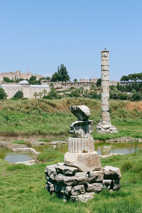 El Templo de Artemisa en Selcuk, Turquía fotos de archivo libres de regalías