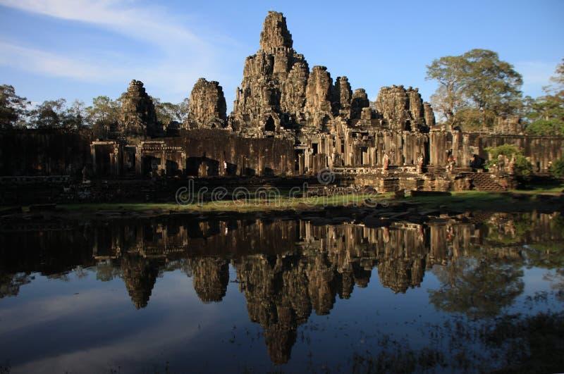 El templo de Bayon, Angkor foto de archivo