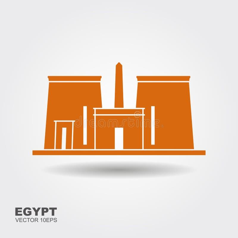 El templo de Edfu es un templo egipcio antiguo, situado en la orilla oeste del Nilo en Edfu, Egipto superior ilustración del vector