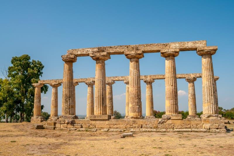 El templo de Hera en Tavole Palatine imagen de archivo libre de regalías