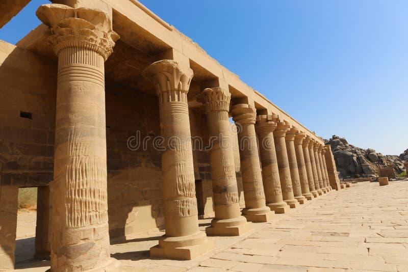 El templo de ISIS - templo de Philae, Egipto imagen de archivo libre de regalías