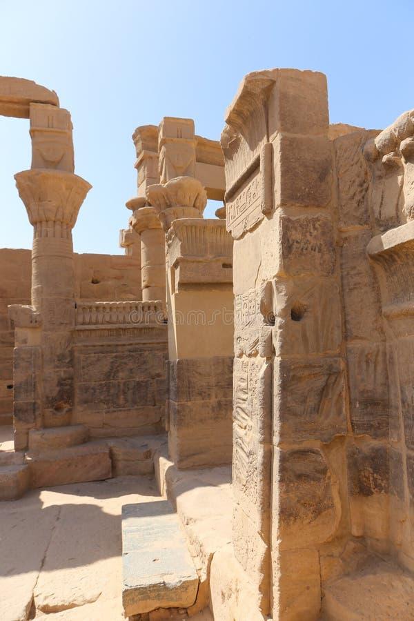El templo de ISIS - templo de Philae, Egipto imagenes de archivo