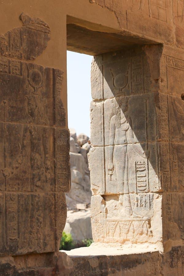 El templo de ISIS - templo de Philae, Egipto imágenes de archivo libres de regalías