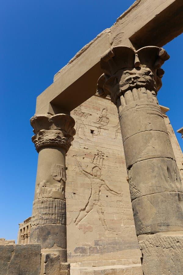 El templo de ISIS - templo de Philae, Egipto imagen de archivo