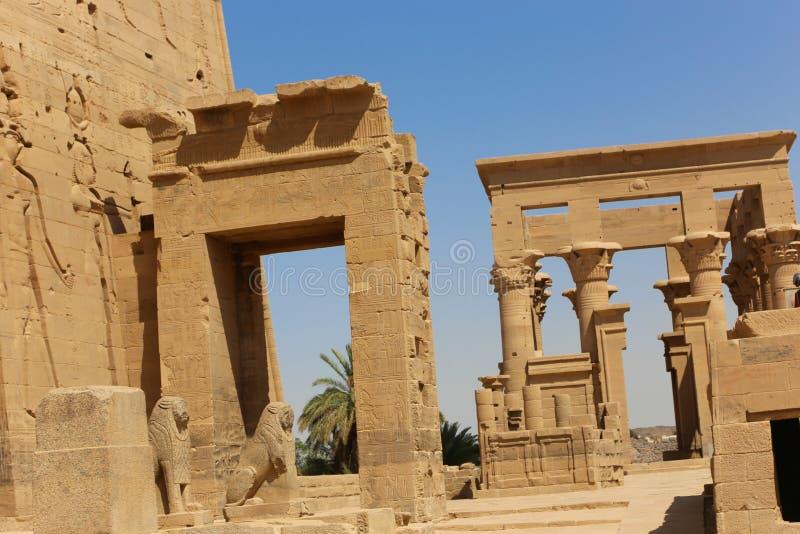 El templo de ISIS - templo de Philae, Egipto fotografía de archivo