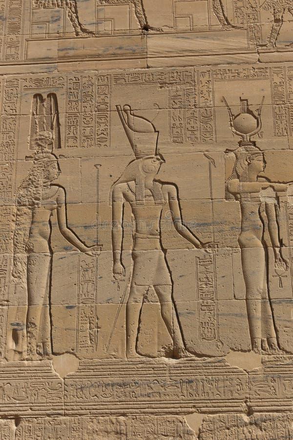 El templo de ISIS - templo de Philae, Egipto foto de archivo