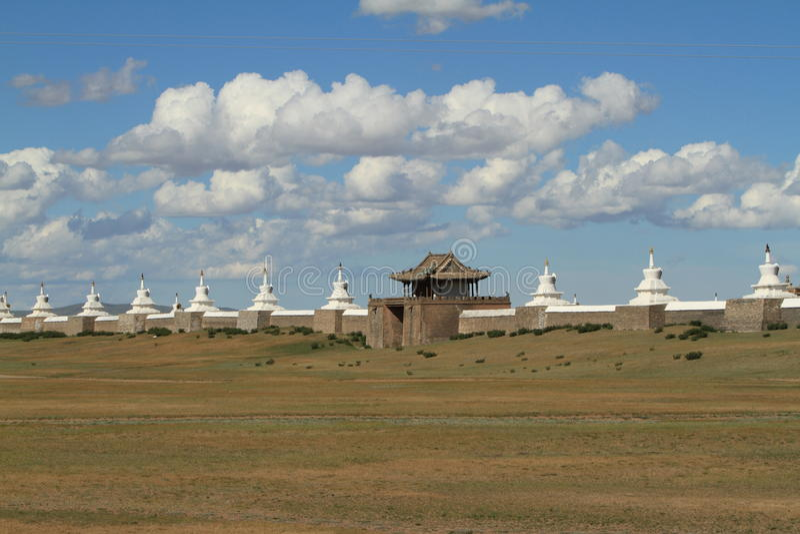 El templo de Karakorum foto de archivo