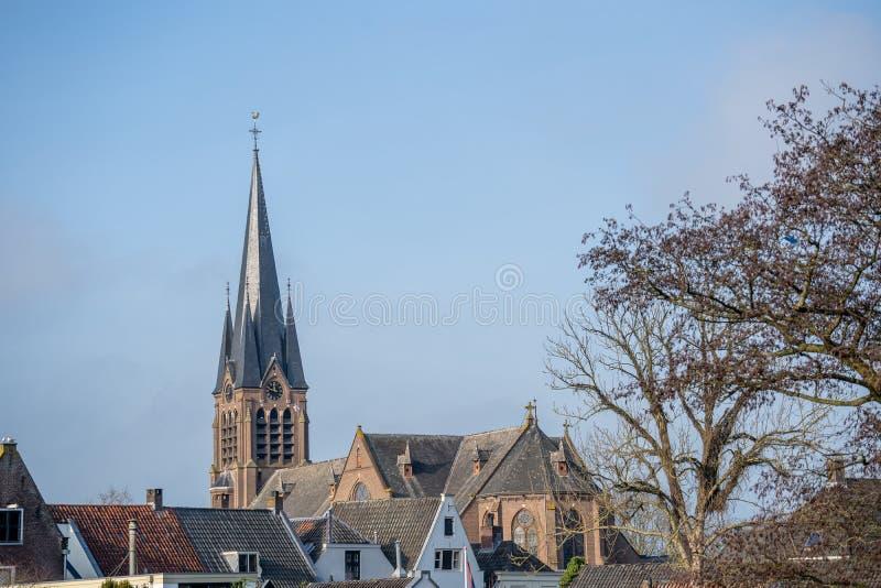 El templo de la antigua iglesia en Breukelen, Países Bajos imagen de archivo