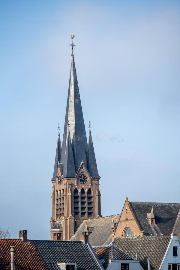 El templo de la antigua iglesia en Breukelen, Países Bajos foto de archivo libre de regalías