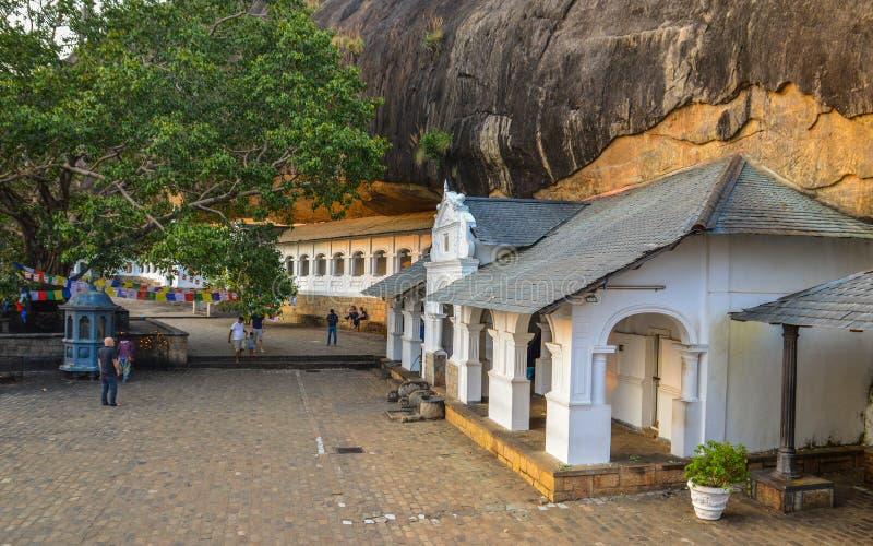 El templo de la cueva de Dambulla es un sitio del patrimonio mundial en Sri Lanka imágenes de archivo libres de regalías