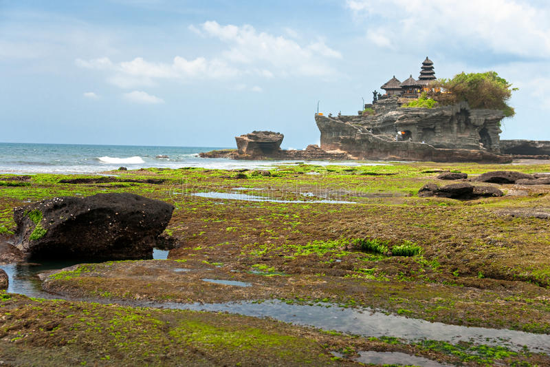 El templo de la porción de Tanah, Bali, Indonesia. imágenes de archivo libres de regalías