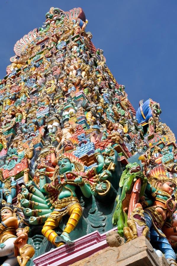 El templo de Meenakshi, la India fotos de archivo