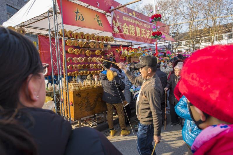 El templo de Nanjing Confucio sacudirá a weng fotografía de archivo libre de regalías