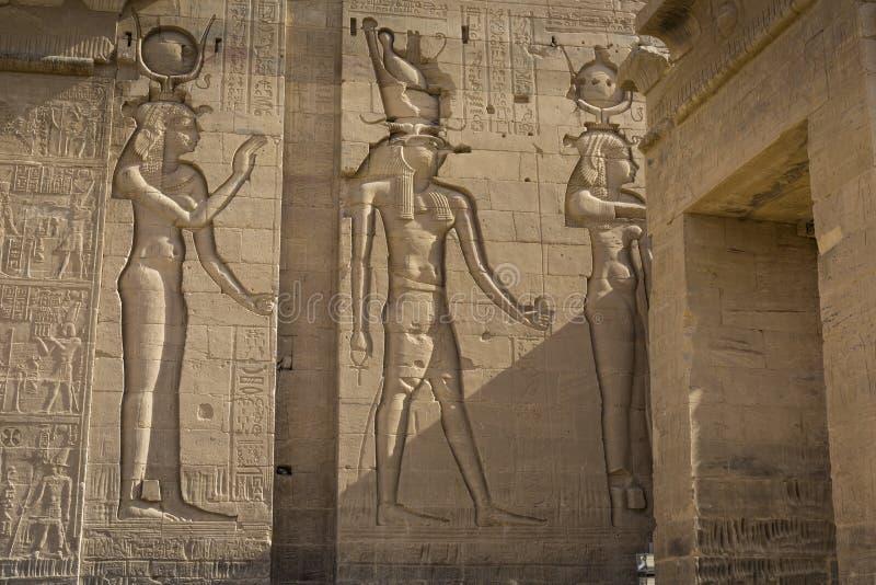 El templo de Philae en la isla de Agilkia en el lago Nasser cerca de Asuán, E imagen de archivo libre de regalías