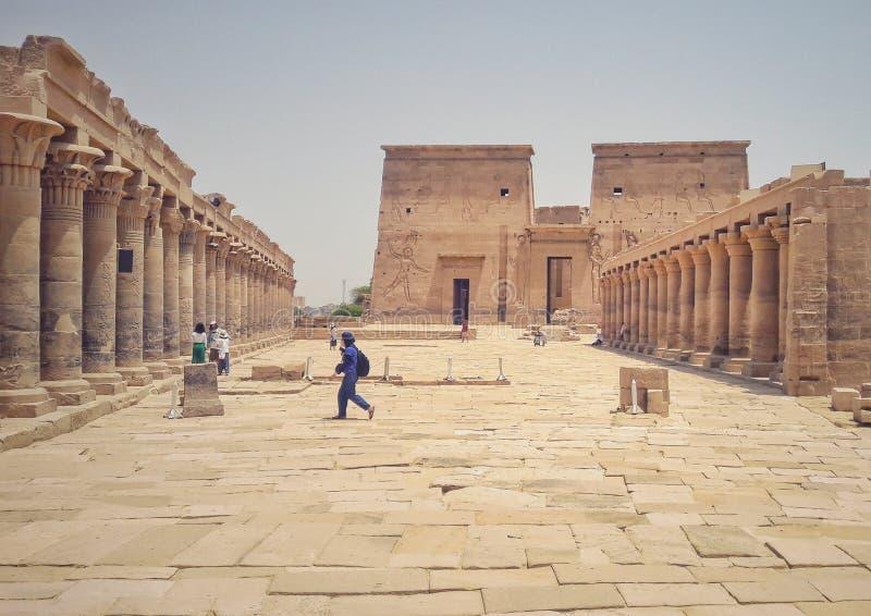 El templo de Philea en Asuán foto de archivo libre de regalías