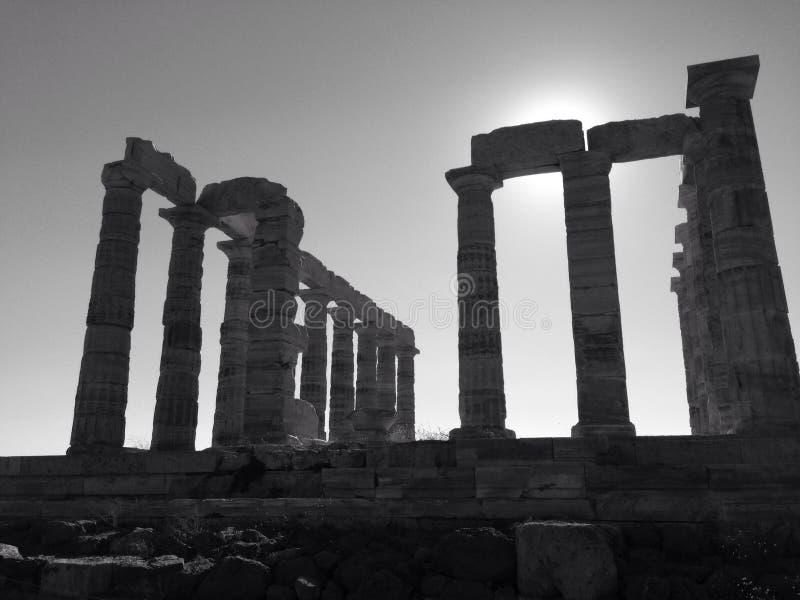El templo de Poseidon imagen de archivo