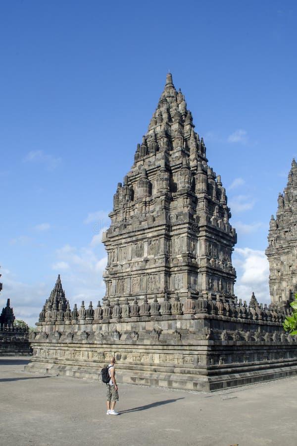 El templo de Prambanan es Indonesia hermosa imágenes de archivo libres de regalías