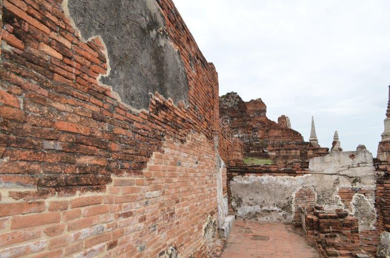 El templo de ruina en ayutthaya imágenes de archivo libres de regalías
