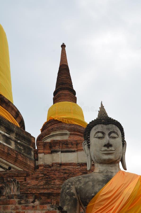 El templo de ruina en ayutthaya fotografía de archivo