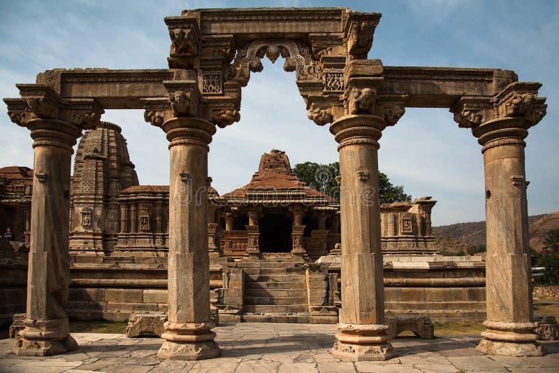 El templo de Sahasra Bahu, Rajasthán, la India imagenes de archivo