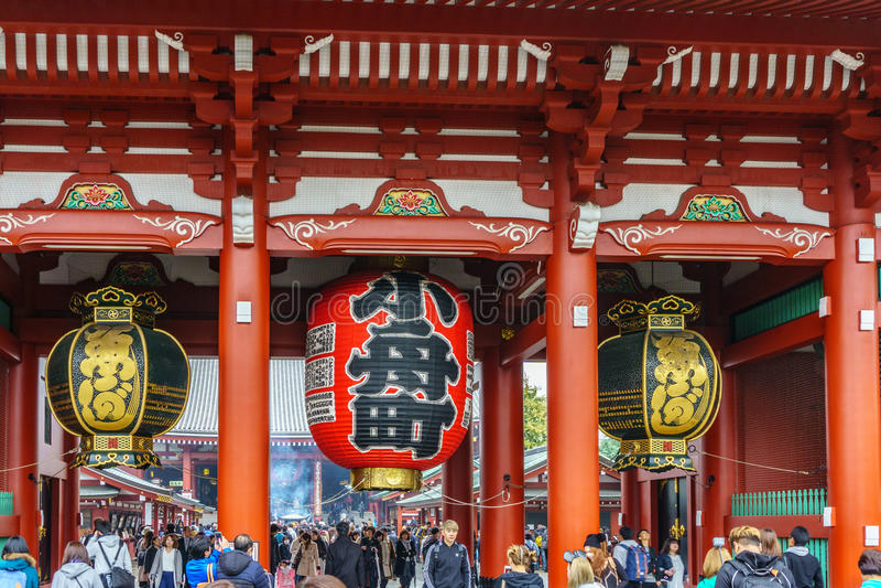 El templo de Senso-ji en Asakusa, Tokio, Japón fotos de archivo libres de regalías