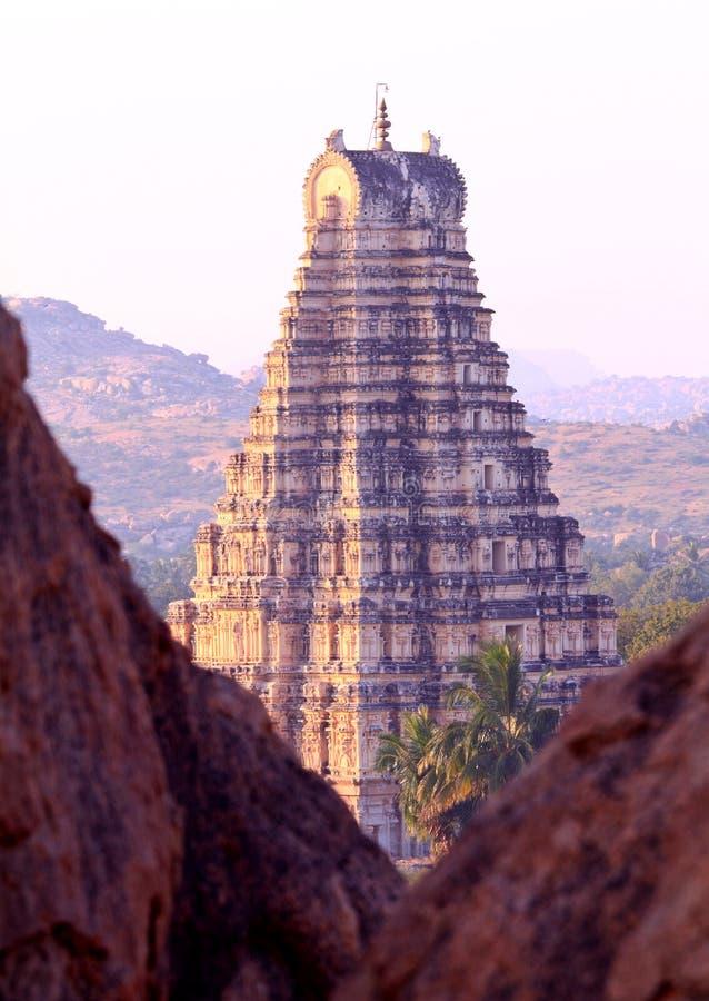 El templo de Virupaksha, Hampi imágenes de archivo libres de regalías