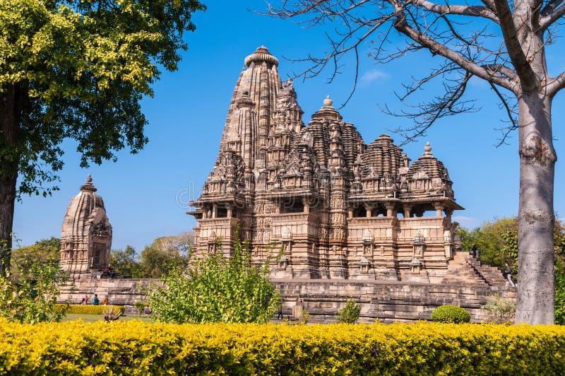 El templo de Vishwanath en Khajuraho imagen de archivo libre de regalías