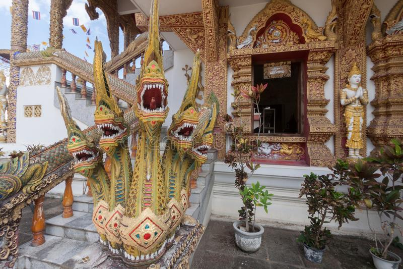 El templo de Wat Buppharam es templo hermoso en Chiangmai, Thailan imagen de archivo libre de regalías