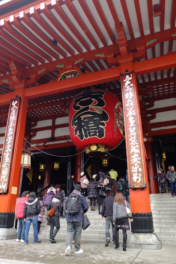 El templo famoso del ji de Senso en Japón foto de archivo libre de regalías