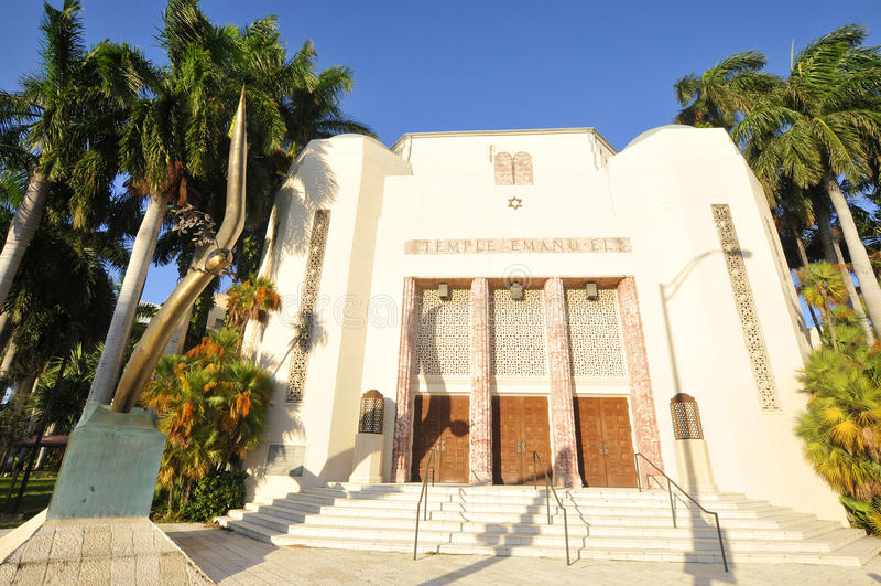 El templo Manuel es una sinagoga imágenes de archivo libres de regalías