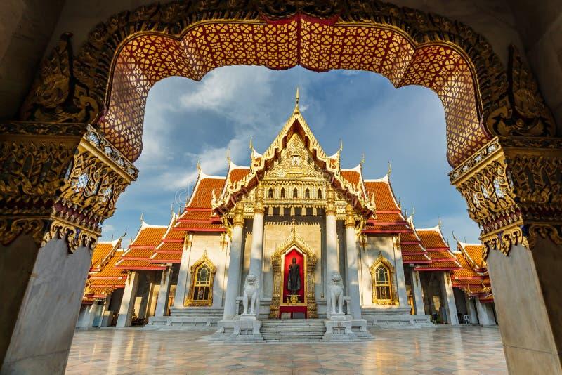 El templo o Wat Benchamabopitr Dusitvanaram de mármol imagen de archivo libre de regalías