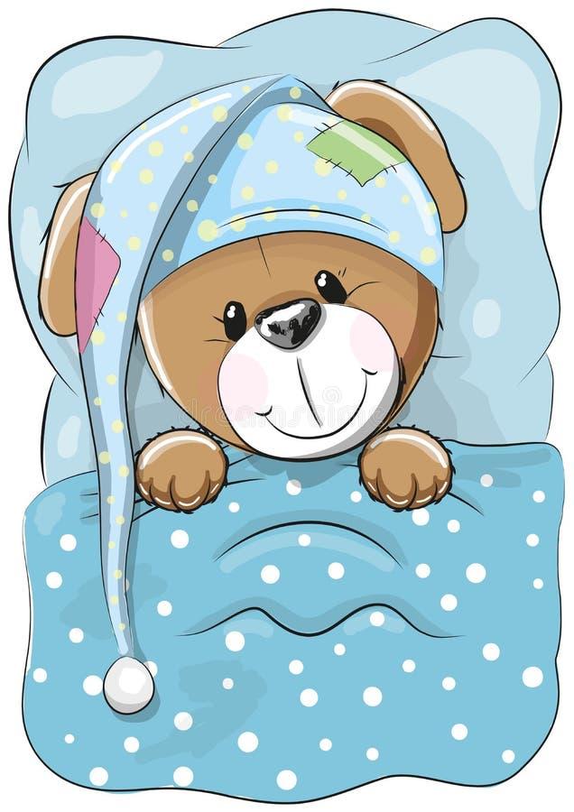 El terrier galés ayuna dormido ilustración del vector