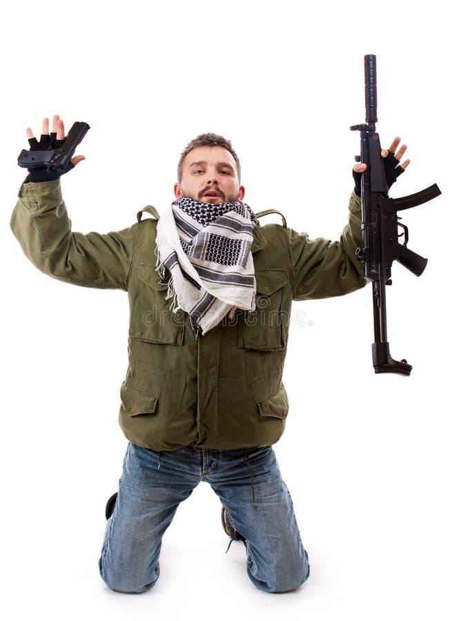 El terrorista se da para arriba imagenes de archivo