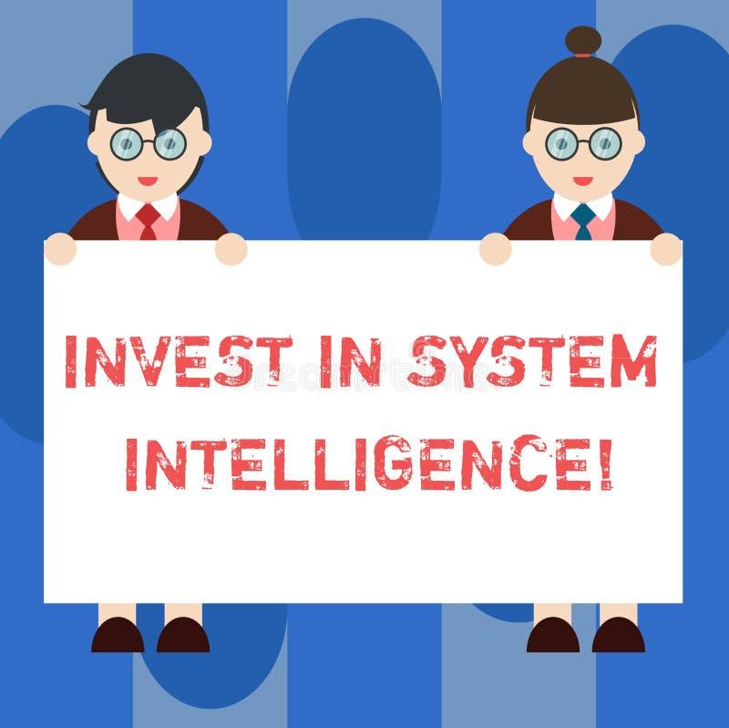 El texto de la escritura invierte en inteligencia del sistema Significado del concepto que invierte en varón moderno digital del  stock de ilustración