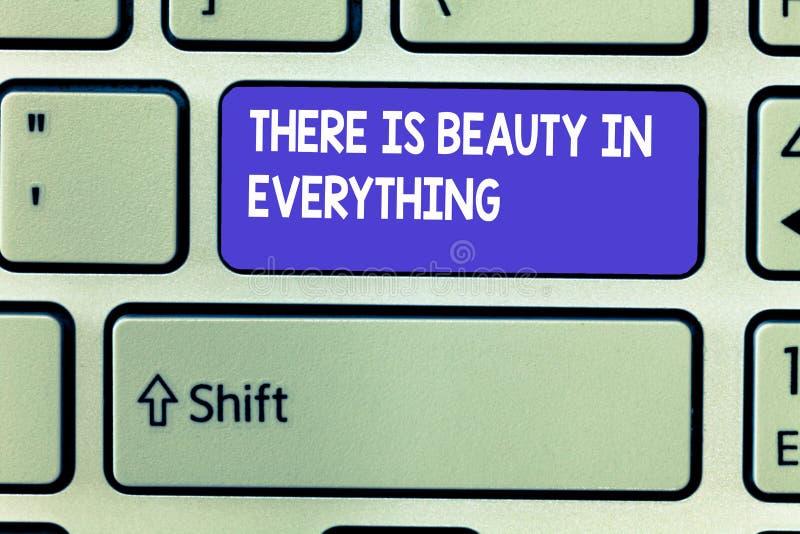El texto de la escritura de la palabra allí es belleza en todo El concepto del negocio para el mundo es un arsenal sin fin de mag imágenes de archivo libres de regalías
