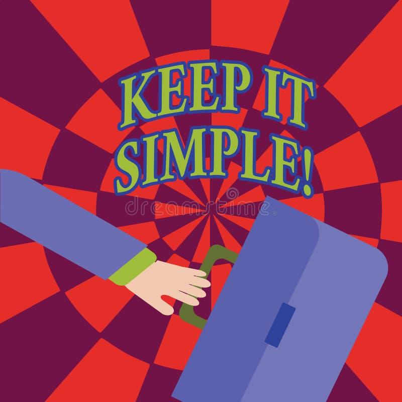 El texto de la escritura de la palabra lo mantiene simple El concepto del negocio para pide algo fácil entiende para no entrar de stock de ilustración