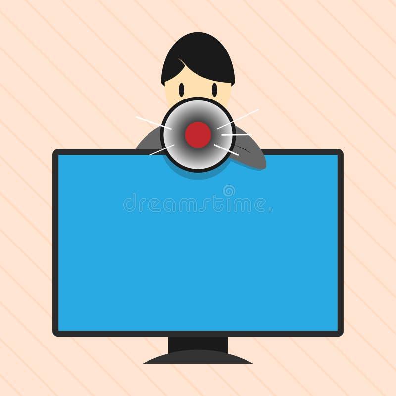 El texto vacío del espacio de la copia del diseño del negocio del ejemplo plano del vector para la promoción del sitio web del an stock de ilustración