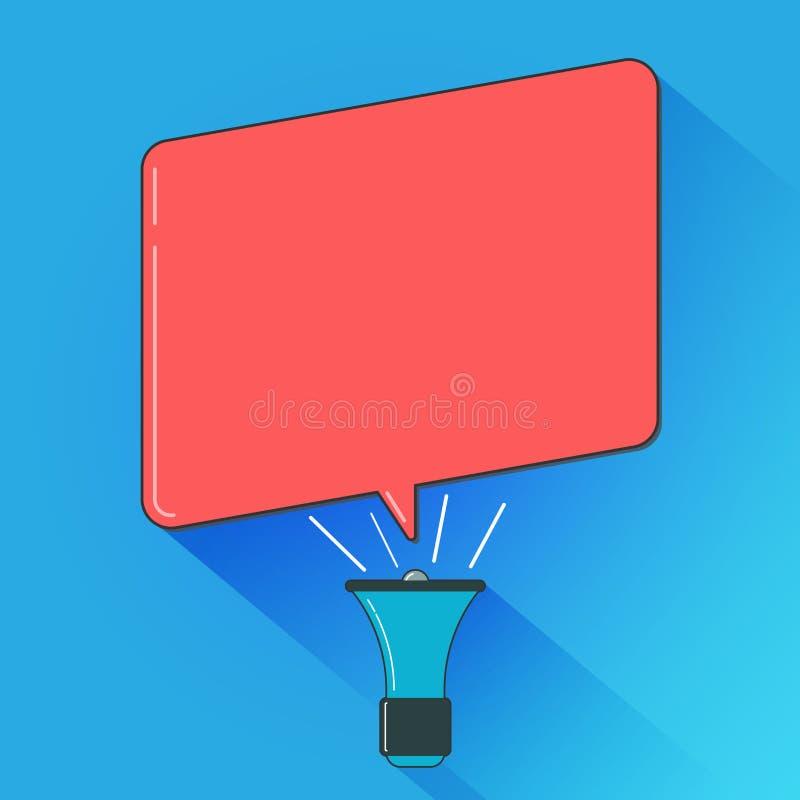 El texto vacío del espacio de la copia del diseño del negocio del ejemplo plano del vector para la promoción del sitio web del an libre illustration