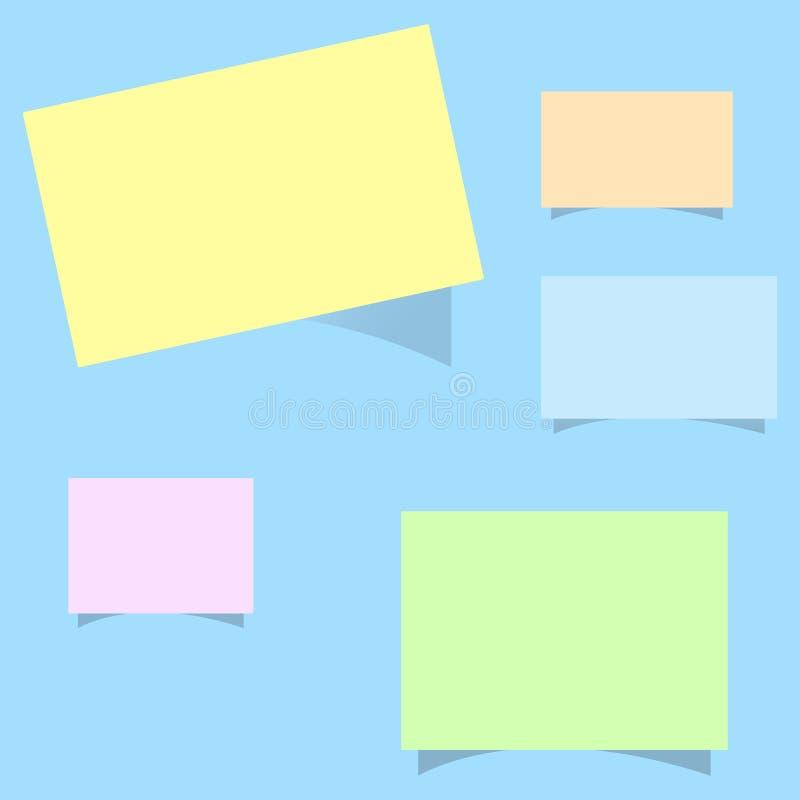 El texto vacío del espacio de la copia de la plantilla del diseño del negocio del vector del concepto plano del ejemplo para el s libre illustration